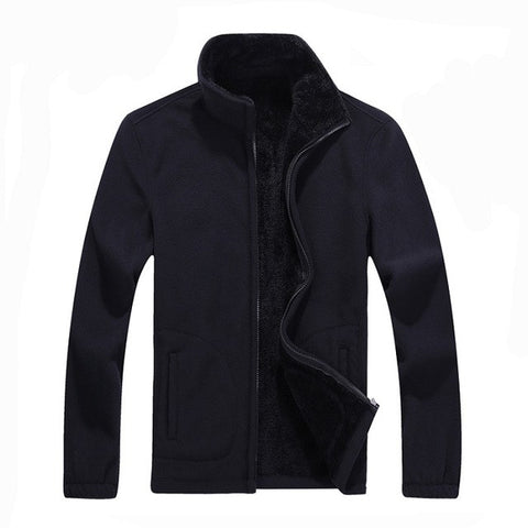 6Xl Mens Softshell Fleece Casual Jackets Men Warm Sweatshirt Thermal Coats Solid-iuly.com