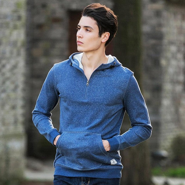 Camp 100% Cotton Hoodies Men Clothing Casual Male Hoody Zipper Long Sleeved-iuly.com