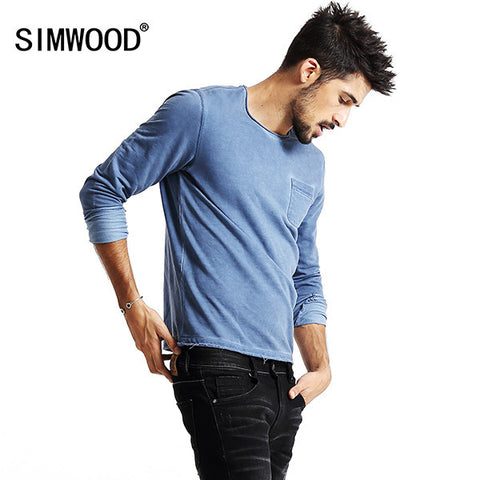 Autumn Winter Long Sleeve T Shirts Men Casual Vintage Tees 3 Colors Available-iuly.com