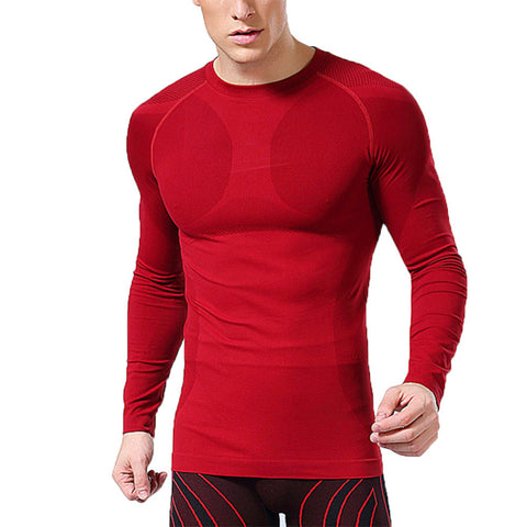 Newest Fitness Men Long Sleeve Exercise Casual T Shirt Men Thermal Muscle-iuly.com