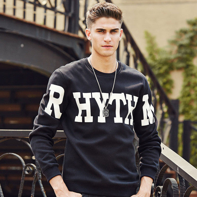 Camp Letter Printed Warm Hoodies Men Clothing Autumn Winter Male Hoodies Men-iuly.com