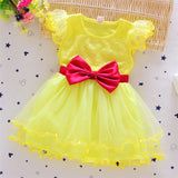 Baby Girls Dress Summer Casual Style Princess Dresses Kids Clothes Bow Floral-iuly.com