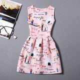 Lady Styles Girl Dress Summer Kids Vest Dress Girls Sleeveless Dresses Butterfly-iuly.com