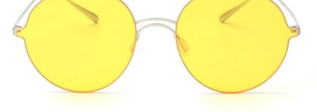 Vintage Retro Round Sunglasses Tinted Lens Men Women Super Light Sunglasses-iuly.com