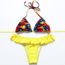 Load image into Gallery viewer, Bikini Swimwear Bikini Set Bandage Pushup Pad Women Swimwear Bikini Set Swimsuit-iuly.com