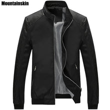 Load image into Gallery viewer, 5Xl Spring Men'S Pu Patchwork Jackets Casual Men'S Thin Jackets Solid Slim Male-iuly.com