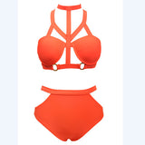 Bikinis Women Waist Swimsuit Waisted Bikini Set Swimsuit Waisted Bathi-iuly.com