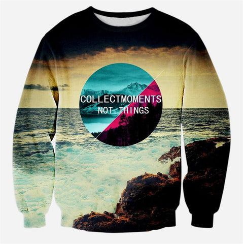 3D Sweatshirt Hoodie Print Beautiful Scenery Pullovers Casual Sweat Shirts Tops-iuly.com