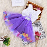 Baby Girls Kid Princess Lace Bow Flower Mini Tutu Vest Dress-iuly.com