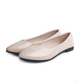 [C][H] Woman Shoes Flat-On Girls Pregnant Woman Travel Shoes Patent Pu Flat-iuly.com