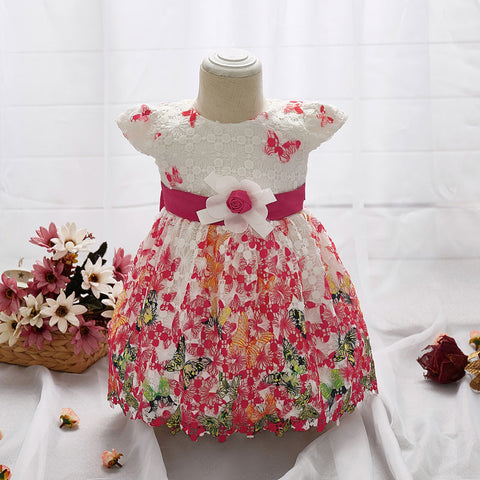 Little Princess Dresses Girl Baby Dress Butterfly Lace Flower Dress Dress Up-iuly.com