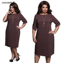 Load image into Gallery viewer, Fashionable Loose Women Dresses Big Sizes Plus Size Women Clothing Half Sleeve-iuly.com