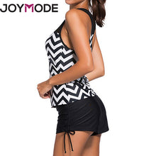 Load image into Gallery viewer, Joymode Women Bikini Set Vest Top +Bottom Plus Size Swimwear Bathing Suit Women-iuly.com