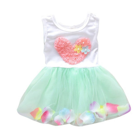 Fashion Summer Colorful Mini Tutu Dress Petal Hem Dress Floral Clothes Princess-iuly.com