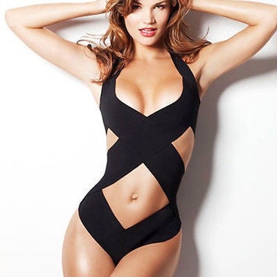 Lady Strappy Swimsuit Summer Halter Bikini Set Beach Women Swimwear Bandage-iuly.com