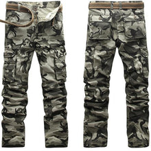 Load image into Gallery viewer, Active Men Spring Army Green Fashion Cargo Pants Crotch Jogger Patchwork-iuly.com