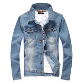 Denim Jacket Men College Outwear Jeans Jacket And Coats Style M-5Xl Ayg114-iuly.com