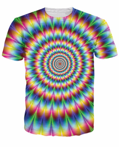 3D Women Men Tees Into The Rainbow T-Shirt Psychedelic Colorful T Shirt Summer-iuly.com