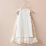 Baby Girls Dresses Fashion Style Summer Girls Baby Tassel Dress Children Mesh-iuly.com