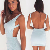 Sexy Backless Summer Dress Slim Short Pencil Bandage Club Party Dresses Casual-iuly.com
