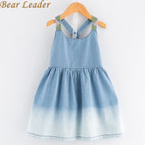 Girls Denim Dress Summer Dress European And American Style Kids Dress Children-iuly.com