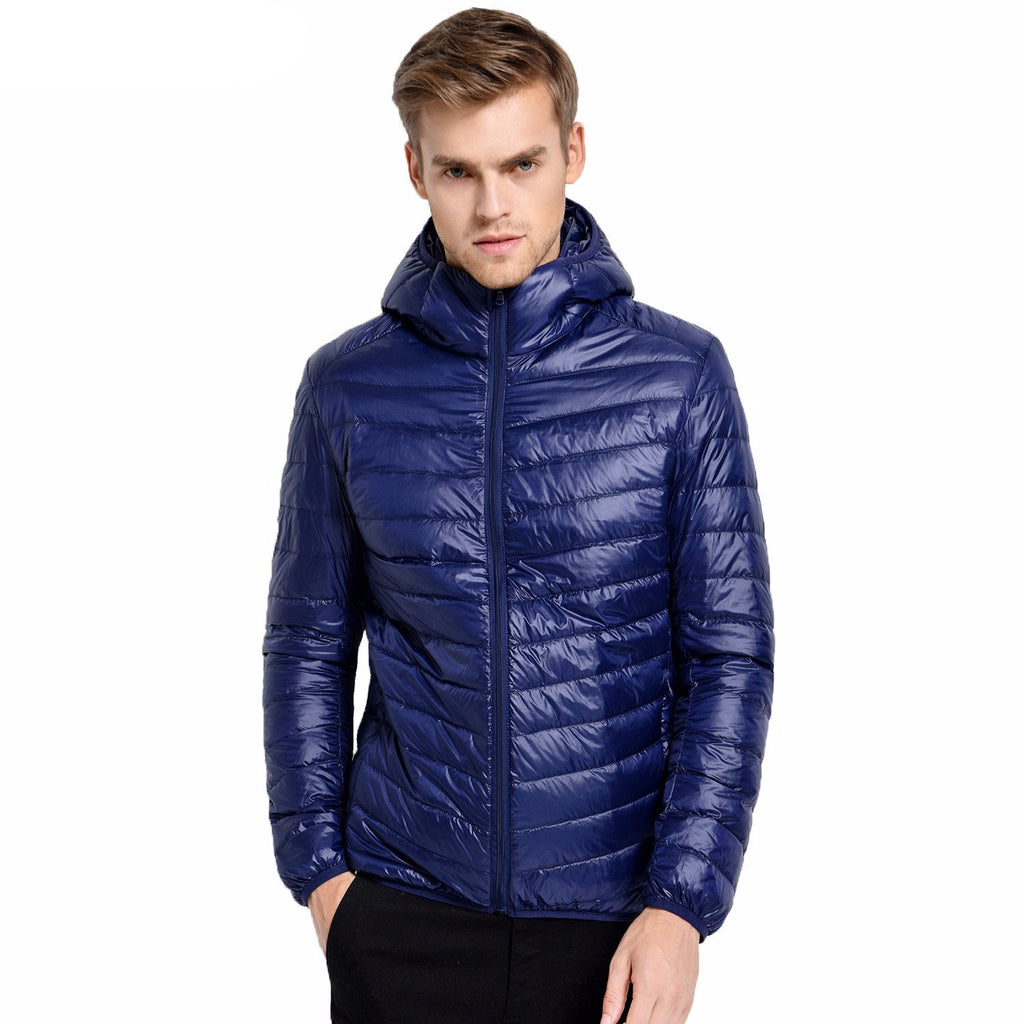 Casual White Duck Down Jacket Men Autumn Winter Warm Coat Men'S Ultralight Duck-iuly.com