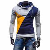 Autumn Mens Casual Hoodies Patchwork Hooded Fleece Sweatshirt Male Leisure Tracksuits-iuly.com