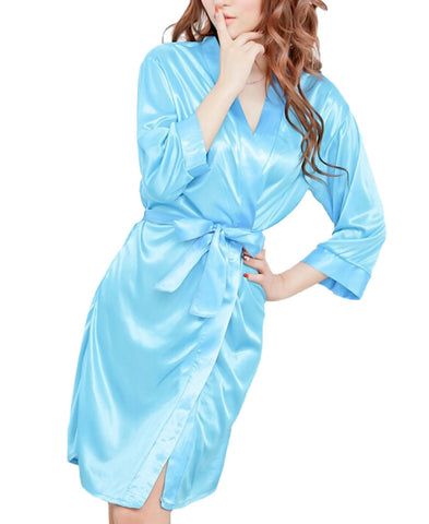 Amazing 4 Colors Summer Spring Women Bathrobe Lingerie Sleepwear Night-iuly.com