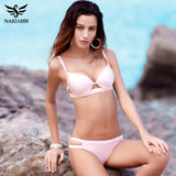 Bikinis Women Swimsuit Swimwear Female Brazilian Bikini Set Cut Out Solid Beach-iuly.com