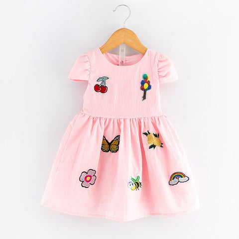 Girls Dress Spring Casual Style Baby Girl Clothes Sleeveless Cartoon Bunny Print-iuly.com