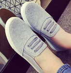 Large Size 35-43 Fall Autumn Women Slip On Woman Flat Casual Shoe Canvas Leisure-iuly.com