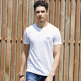 Cotton Letters Printed O-Neck Tshirt Homme Thin Soft T Shirt Men For Big Tall-iuly.com