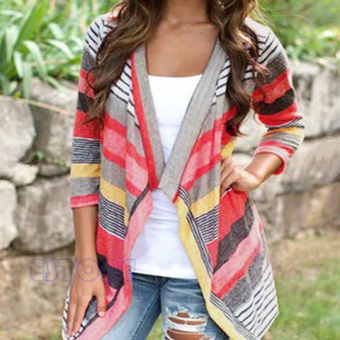 Boho Womens Long Sleeve Cardigan Loose Sweater Outwear Knitted Jacket-iuly.com
