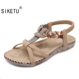 Folk Style Sandals Bohemia Diamond Shoes Beach Shoes Women Shoes Women Sandals-iuly.com