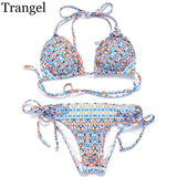 Bikinis Set Swimwear Women Bikinis Printed Bikini Swimsuits Halter Bathing Suits-iuly.com