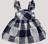 Enjoy 3-8 Year Kids Girls Dress Summer Girl Clothing Blue Plaid Sleeveless Princess-iuly.com