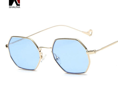 12 Colors Trend Women Small Square Sunglasses Metal Frame Tint Lens Glasses-iuly.com