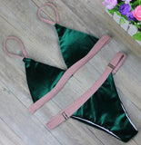 Bikinis Women Swimsuit Push Up Swimwear Woman Bandage Cut Out Bikini Set Patchwork-iuly.com