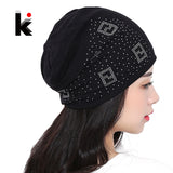 Beanie Hats For Women Beanies Autumn And Winter Knitted Hat Turban Diamond-iuly.com