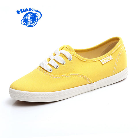 White Women Vulcanize Canvas Shoes Low Breathable Female Solid Color Flat Shoes-iuly.com
