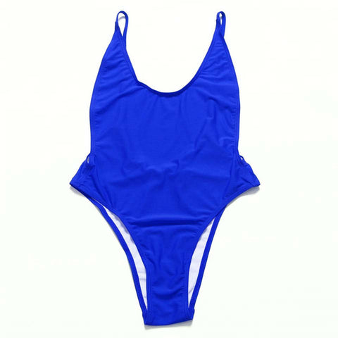 Colors One Piece Swimwear Set Bandage Cut Swimsuit Women Bathing Suits Beach-iuly.com