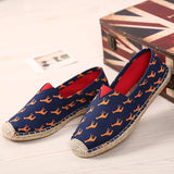 Jolly Women Shoes Unisex Espadrilles Patchwork Suede Weave Rope Comfortable-iuly.com