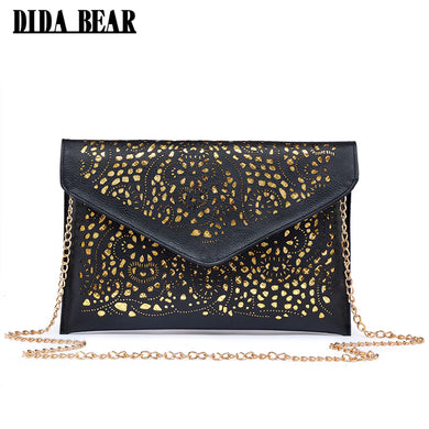 Crossbody Hollow Out Messenger Shoulder Bag Women Envelope Bag Lady Clutches-iuly.com