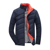 Men'S Winter Jacket 5Xl Style Slim Fit Fashion Stand Collar Outerwear Men'S-iuly.com
