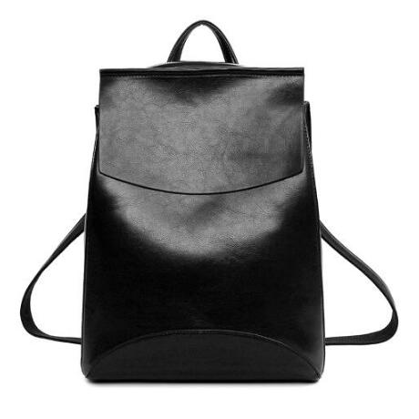 Design Pu Women Leather Backpacks School Bag Student Backpack Ladies Women-iuly.com