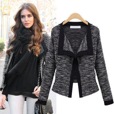 Women Coat Autumn Winter Womens Jacket Linen Ladies Knitted Cardigans-iuly.com