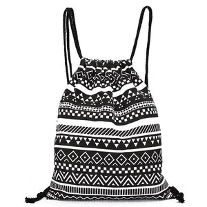 Backpack Women National Canvas Backpacks For Teenage Drawstring Bag School-iuly.com