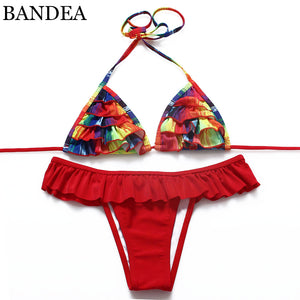 Bikini Swimwear Bikini Set Bandage Pushup Pad Women Swimwear Bikini Set Swimsuit-iuly.com