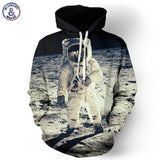 Cap Hoodies For Men/Women 3D Sweatshirt Print Astronaut Moon Landing Hooded-iuly.com