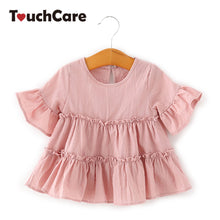 Load image into Gallery viewer, Baby Girl Lotus Leaf Sleeves Shirt Skirt Toddler Pink White Color A-Line Baby-iuly.com